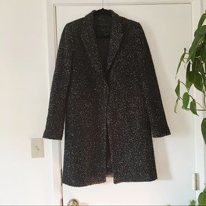 {Zara} Speckled Wool Trench Coat